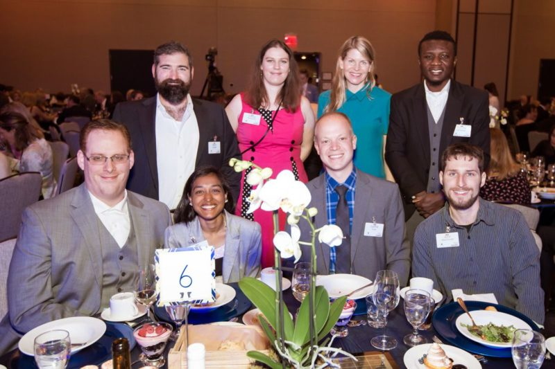 Presenting Sponsor of the 2019 Gala – Groves alum, Mark Sanger and his guests with keynote speaker, Lisa Wood Shapiro.