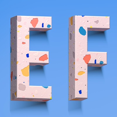 E and F letters