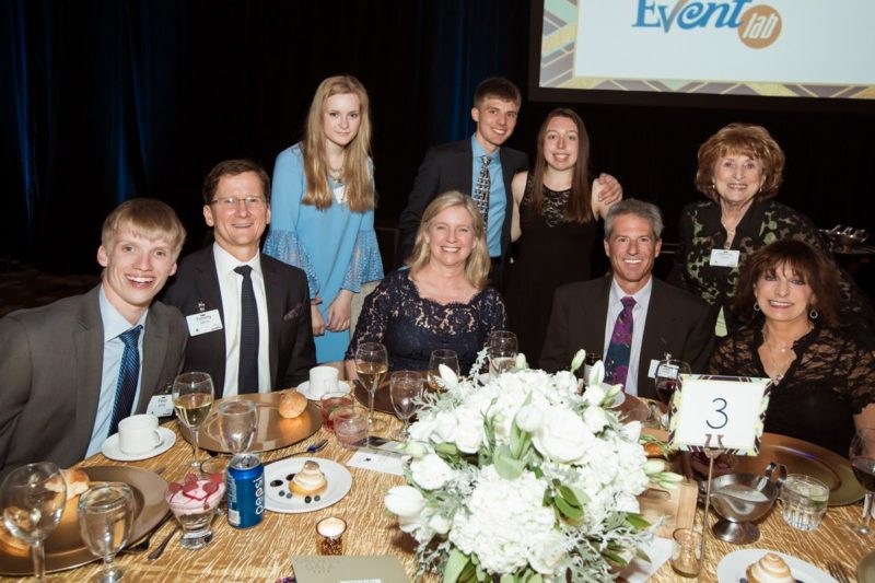 Gala attendees and sponsors.
